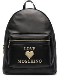 Love Moschino Zaino con logo - Nero