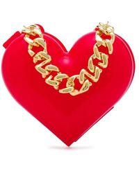 Gcds Heart-shaped Handbag - Red