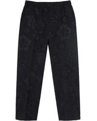 Stussy Hawaiian Floral Pattern Trousers - Black