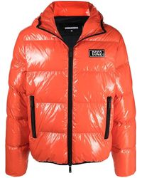 DSquared² High-shine Padded Jacket - Multicolor