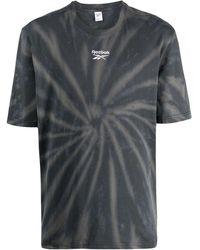 Reebok T-shirt con fantasia tie dye - Nero