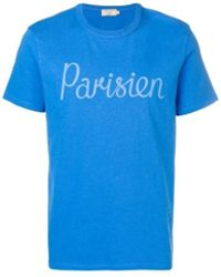 Maison Kitsuné T-Shirt Stampa Parisien - Blu