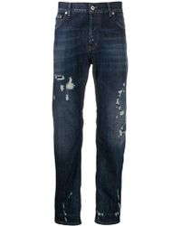 Dondup - Distressed Spike Jeans - Lyst