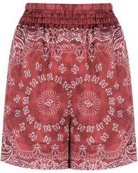 Golden Goose Shorts Stampa Bandana - Rosso