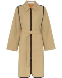 See By Chloé Blue Trim Trench Coat - Natural