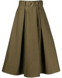 MSGM Gonna Pleated Midi Skirt - Green