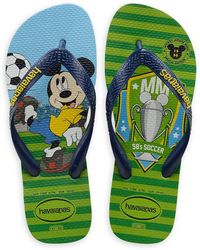 Havaianas Mickey Mouse World Cup Flip Flops - Green