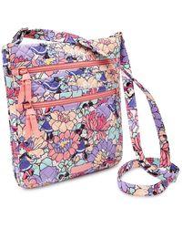Vera Bradley Minnie Mouse Garden Party Triple Zip Hipster Bag - Multicolor