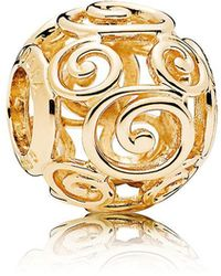 PANDORA Mickey Mouse Gold Swirl Charm - Metallic