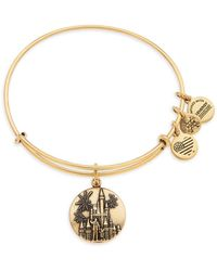 ALEX AND ANI Cinderella Castle With Walt Disney And Mickey Mouse ''partners'' Bangle - Metallic