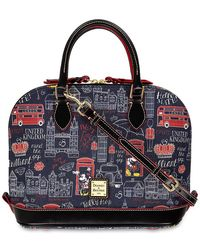 Dooney & Bourke Mickey And Minnie Mouse Hello Mate Zip Satchel - Blue