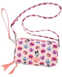 Vera Bradley Minnie Mouse Garden Party All In One Crossbody Bag - Pink