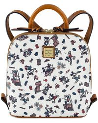 Dooney & Bourke Mickey And Minnie Mouse Americana Mini Backpack - Multicolor