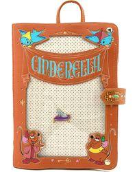 Disney Loungefly Cinderella Pin Trader Backpack - Brown