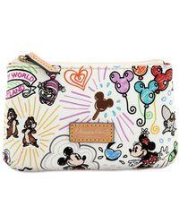 Dooney & Bourke Disney Sketch Cosmetic Case - Multicolor