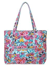 Vera Bradley Mickey Mouse And Friends Colorful Garden Hipster Bag - Blue