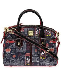 Dooney & Bourke Mickey And Minnie Mouse Hello Mate Satchel - Multicolor