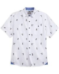 Tommy Bahama Captain Mickey Mouse Woven Shirt - White