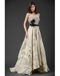 Gemy Maalouf Strapless 2 Piece Ball Gown - Multicolor