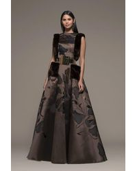 Isabel Sanchis Botticino Sleeveless A-line Gown - Black