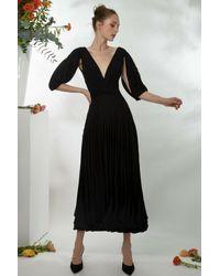 Gemy Maalouf 3d Laser-cut Midi Dress - Black
