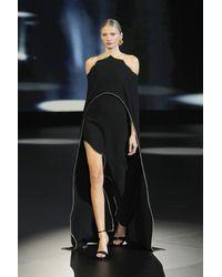 Isabel Sanchis Caltrano Cold Shoulder Cape And Skirt - Black