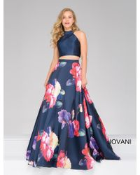 Jovani - Two-piece Floral Ball Gown - Lyst