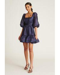 THEIA Claire Cocktail Dress - Blue