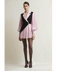 Stefano De Lellis Sara Long Sleeve Crepe Dress - Multicolor