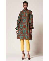 Sachin & Babi Fall 2018 Noir Collection Long Sleeve Jacquard Nadya Coat - Multicolor