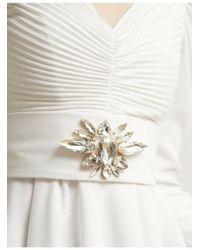 Stefano De Lellis Karin Long Sleeve Crepe Dress - White