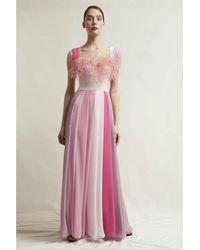 Stefano De Lellis Gioia Sleeveless Georgette Gown - Pink
