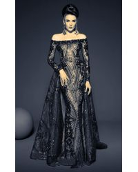 9cfe525a615 Fouad Sarkis - For Mnm Couture Off Shoulder Gown - Lyst