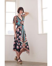 55357e9d9b Needle & Thread Think Of Me Arabesque Dress in Pink - Lyst
