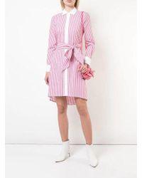 Badgley Mischka - Stripe Shirt Dress - Lyst