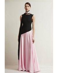 Stefano De Lellis Mia Cady Satin Gown - Multicolor