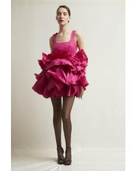 Stefano De Lellis Elga Sleeveless Shantung Dress - Multicolor