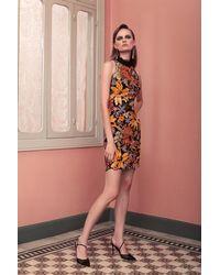 Gemy Maalouf Beaded Sleeveless Multi Sheath Dress - Multicolor