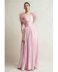 Stefano De Lellis Diletta Sleeveless Satin Gown - Pink