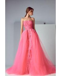 Saiid Kobeisy - Sk By Strapless Tulle Ball Gown - Lyst