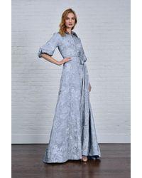 THEIA Half Sleeve Shirt Gown - Blue