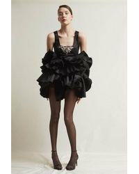 Stefano De Lellis Elga Sleeveless Shantung Dress - Black