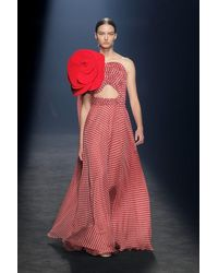 Isabel Sanchis Capizzi Polka-dotted Gown - Red