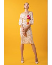 Gemy Maalouf Lace Top And Skirt - Multicolor
