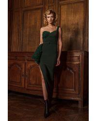 Gemy Maalouf One Shoulder Side Slit Dress - Multicolor
