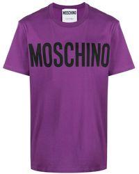 Moschino T-shirt con stampa - Viola