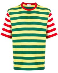 Sunnei T-shirt con design color-block - Verde