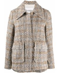 Rodebjer Giacca a quadri in tweed multicolore - donna