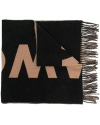 Tom Wood Sciarpa con logo Uomo - Nero