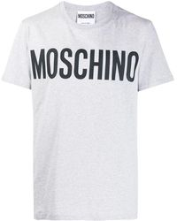 Moschino T-shirt con stampa - Grigio